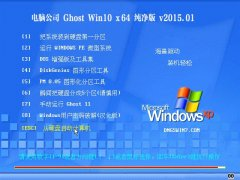 电脑公司 Ghost Win10 x64 纯净版 V2015.01