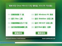 雨林木风 Ghost Win10 32位 专业版 2016V09