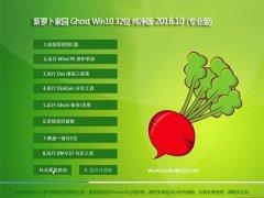 新萝卜家园 Ghost Win10 32位 纯净版 2016.10(自动激活)