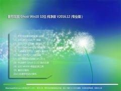 番茄花园Ghost Win10 X32 最新纯净版v2016.12(永久激活)