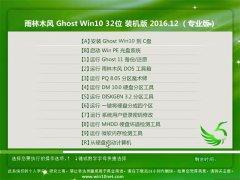 雨林木风Ghost Win10 (X32) 专业版 v2016.12月(自动激活)