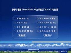 新萝卜家园Ghost Win10 x32位 专业版 2016年12月(无需激活)