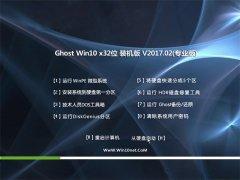 大地系统Ghost Win10 X32位 稳定增强版v2017.02月(免激活)