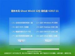 雨林木风Ghost Win10 X32位 绿色装机版2017V11(绝对激活)